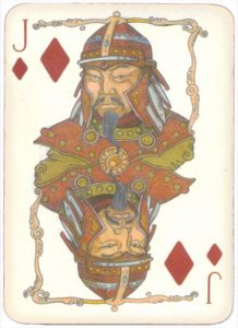 Mongolian National Economical Bank lovely graphic design Jack of diamonds 11