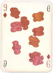 Mongolian National Economical Bank lovely graphic design Nine of diamonds 08