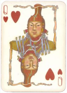 Mongolian National Economical Bank lovely graphic design Queen of hearts 13