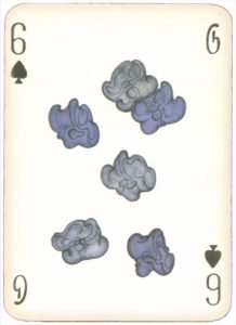 Mongolian National Economical Bank lovely graphic design Six of spades 05
