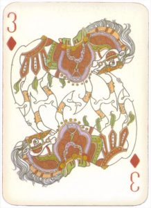 Mongolian National Economical Bank lovely graphic design Three of diamonds 02
