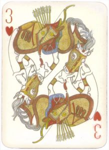Mongolian National Economical Bank lovely graphic design Three of hearts 02