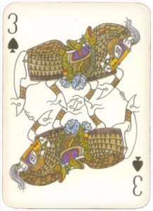 Mongolian National Economical Bank lovely graphic design Three of spades 02