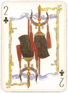 Mongolian National Economical Bank lovely graphic design Two of clubs 01