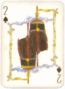 Mongolian National Economical Bank lovely graphic design Two of spades 01