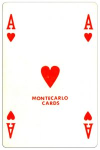 Harten Aas speelkaart Montecarlo Cards standard pattern playing cards