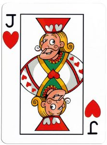 Harten Boer speelkaart Junior playing cards cartoon