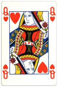 Harten Vrouw speelkaart Montecarlo Cards standard pattern playing cards