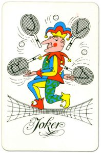 Joker speelkaart KNLTB the Royal Dutch Lawn tennis Association