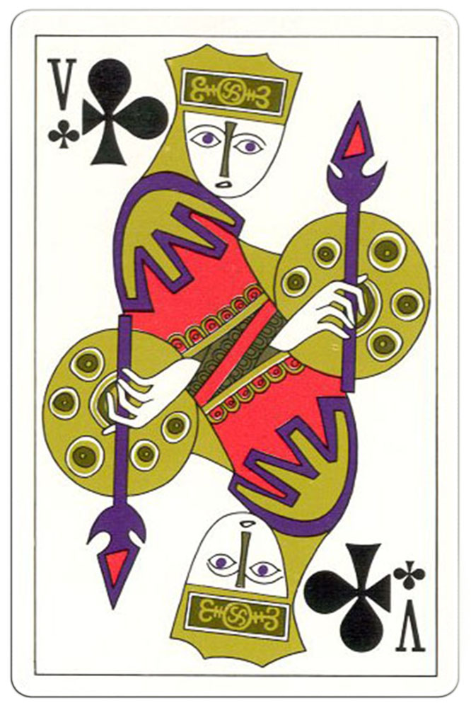Klaveren Boer speelkaart Troubadour deck1970
