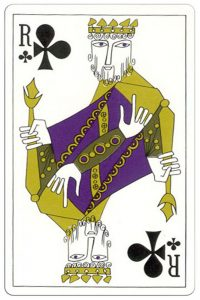 Klaveren Heer speelkaart Troubadour deck1970