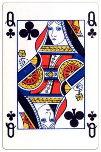 Klaveren Vrouw speelkaart Montecarlo Cards standard pattern playing cards