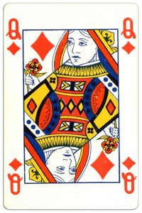 Ruiten Vrouw speelkaart Montecarlo Cards standard pattern playing cards