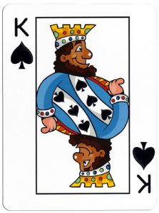 Schoppen Heer speelkaart Junior playing cards cartoon