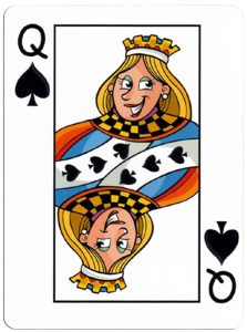 Schoppen Vrouw speelkaart Junior playing cards cartoon