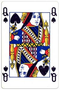Schoppen Vrouw speelkaart Montecarlo Cards standard pattern playing cards