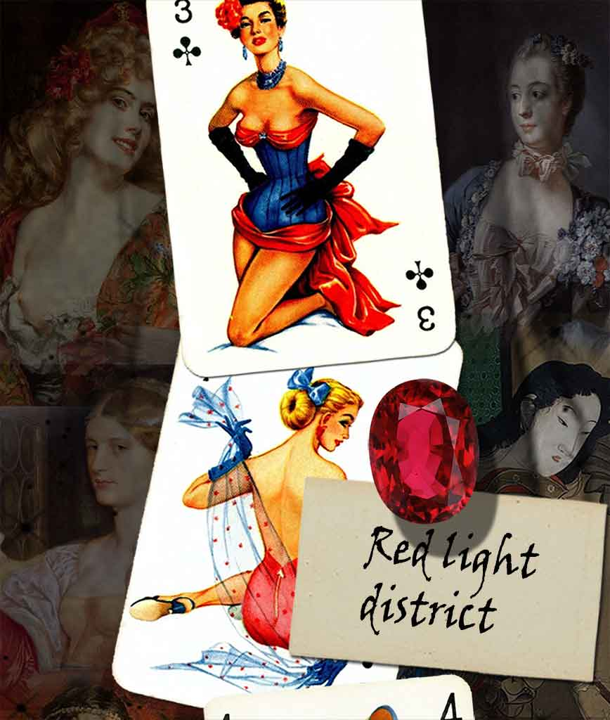 pin up cards collection red light district card