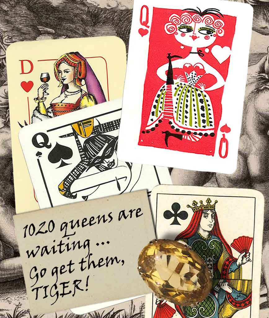 queen cards collection card