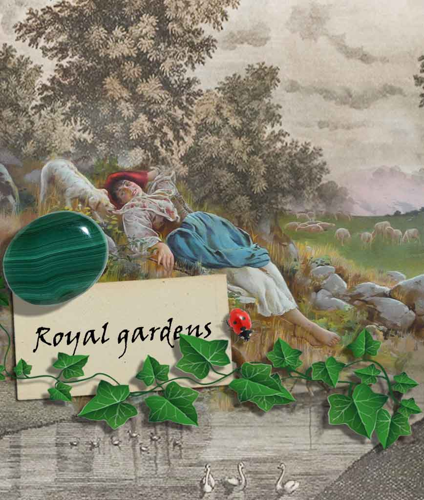 royal gardens botanical pictures relaxation card