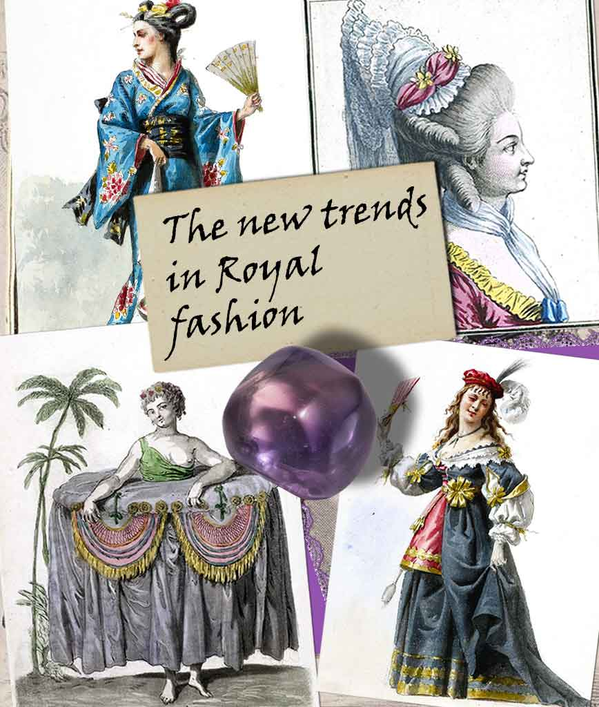 trends in royal fashion card