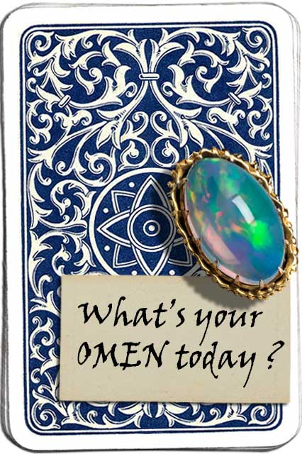 card back with omen ad